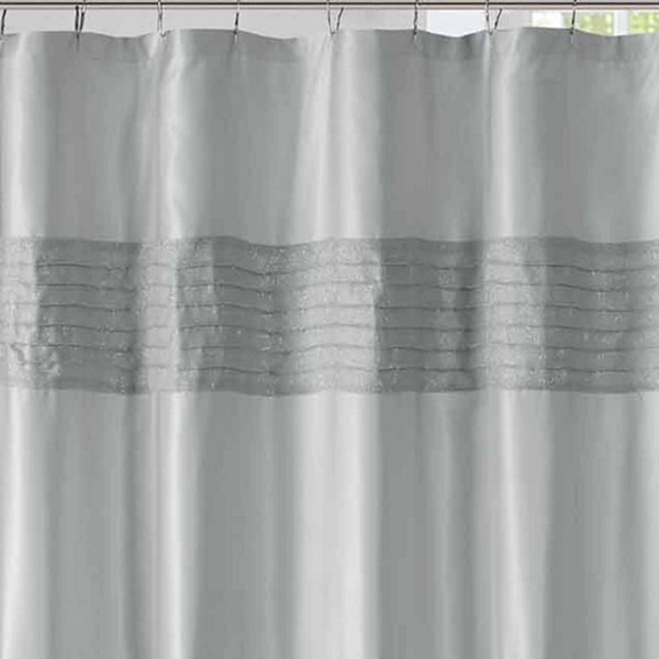 Madison Park Eastridge Metallic Pieced Shower Curtain