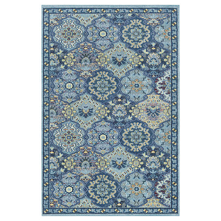 Decor 140 Lakos Rectangular Indoor Rugs, One Size , Blue