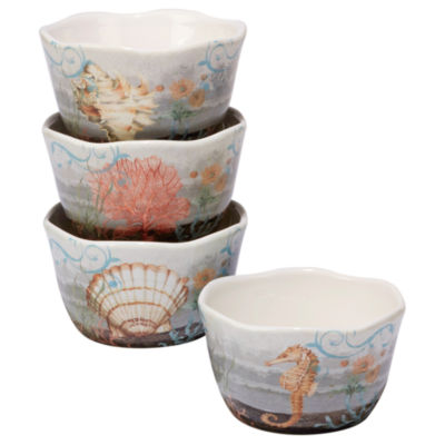 Certified International Coastal View 4-pc. Ice Cream Bowl