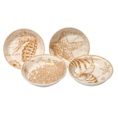 Certified International Coastal Discoveries 4-pc. Soup Bowl