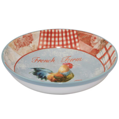 Certified International Farm House Rooster Pasta Bowl
