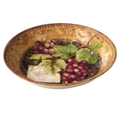 Certified International Gilded Wine Pasta Bowl