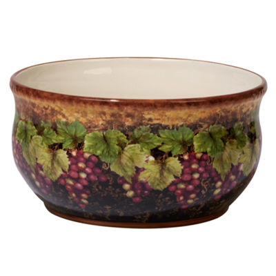 Certified International Gilded Wine Fruit Bowl