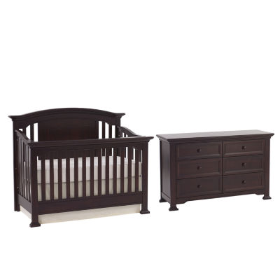 Muniré Furniture Medford Convertible Crib - Espresso
