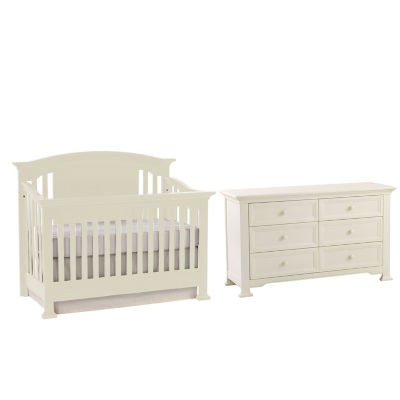 Muniré Furniture Medford 4 IN 1 Convertible Crib   White