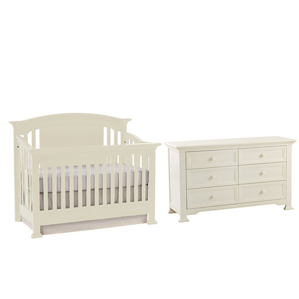 Centennial Medford Lifetime 4-in-1 Crib - White