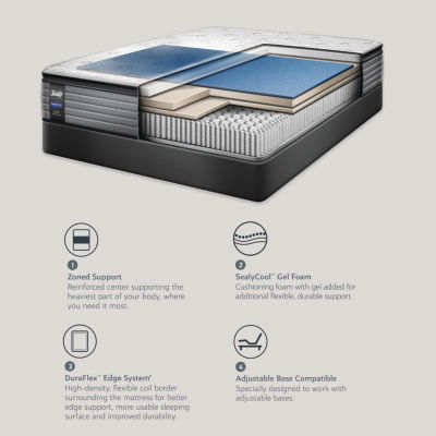 Sealy® Besant Plush Pillowtop - Mattress + Box Spring