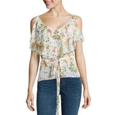 Buffalo Jeans  Floral Ruffle Tank Top