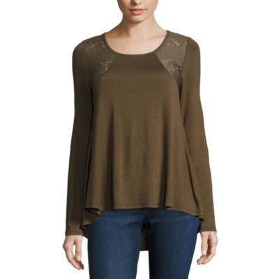 Buffalo JeansLong Sleeve Scoop Neck T-Shirt-Womens