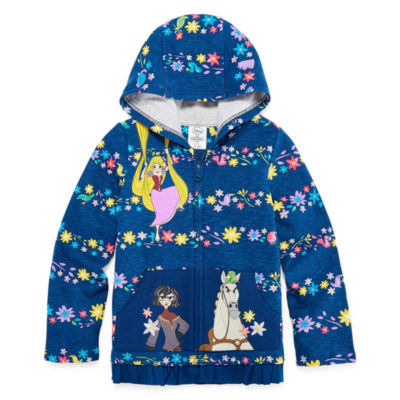 Disney Tangled Fleece Jacket-Big Kid Girls