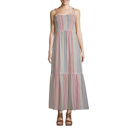 Arizona-Juniors Plus Sleeveless Maxi Dress