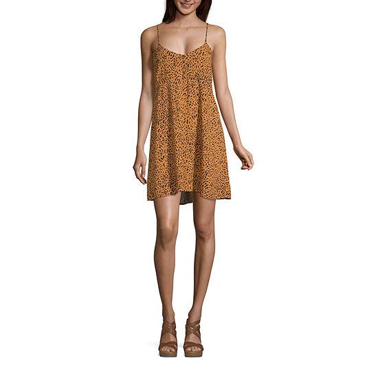 Arizona Sleeveless Animal Fit Flare Dress Juniors Plus