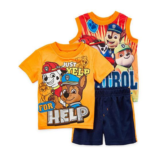 Nickelodeon 3-pc. Short Set Baby Unisex