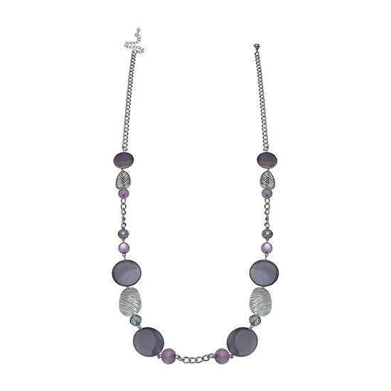Mixit Long Shell Beaded Necklace