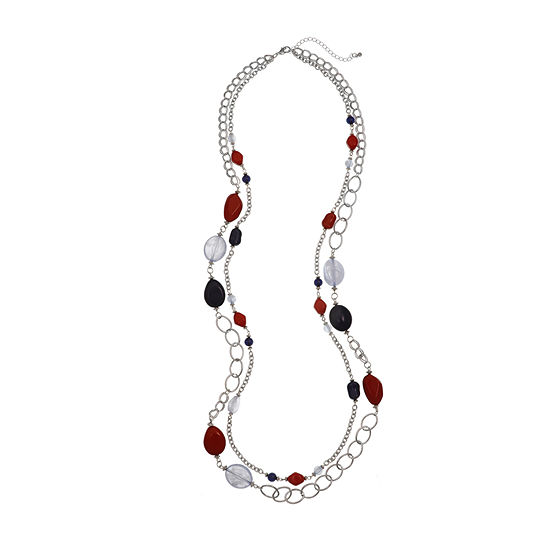 Mixit Americana Womens Round Beaded Necklace