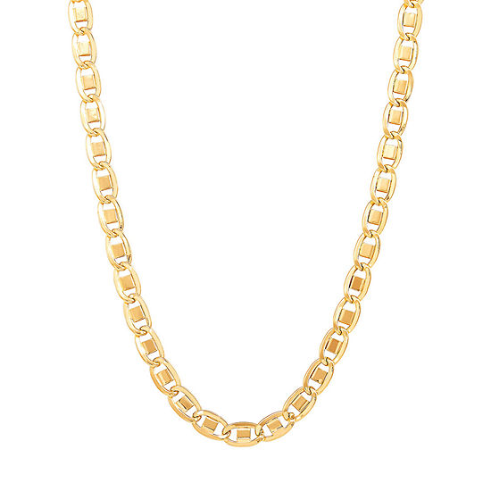 Made In Italy 14k Gold 22 Inch Hollow Link Chain Necklace