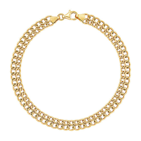 Made in Italy 14K Gold 7.5 Inch Hollow Link Bracelet