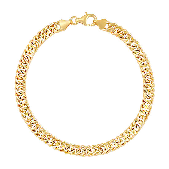 Made in Italy 14K Gold 7.5 Inch Hollow Curb Link Bracelet