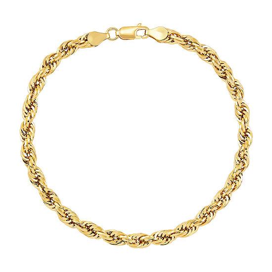 10K Gold 9 Inch Hollow Chain Bracelet