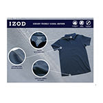 Izod Exclusive Adaptive Girls Point Collar Short Sleeve Polo Shirt Preschool / Big Kid