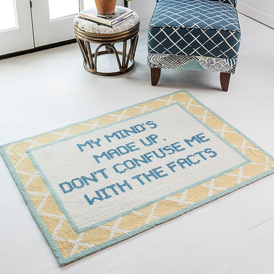 Madcap Cottage By Momeni Get Smart Fact Of Life Hooked Rectangular Indoor Rugs