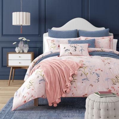 Queen Street Blakely 3-pc. Floral Heavyweight Comforter Set