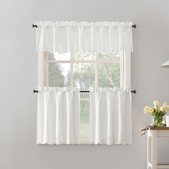 No 918 Millie 3-pc. Rod-Pocket Kitchen Curtain Set
