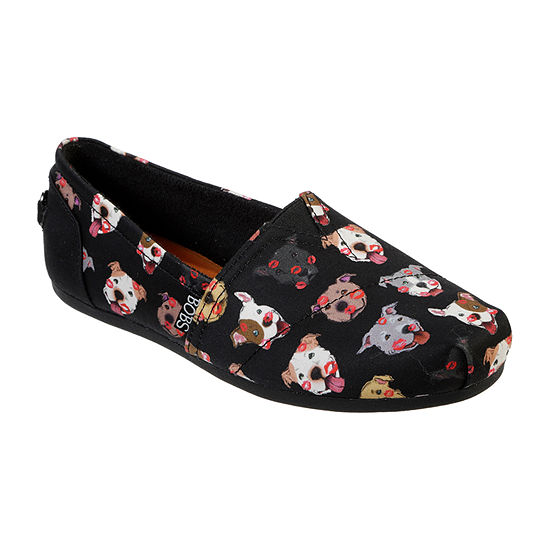 Skechers Bobs Womens Plush - Kiss-A-Bulls Closed Toe Slip-On Shoe