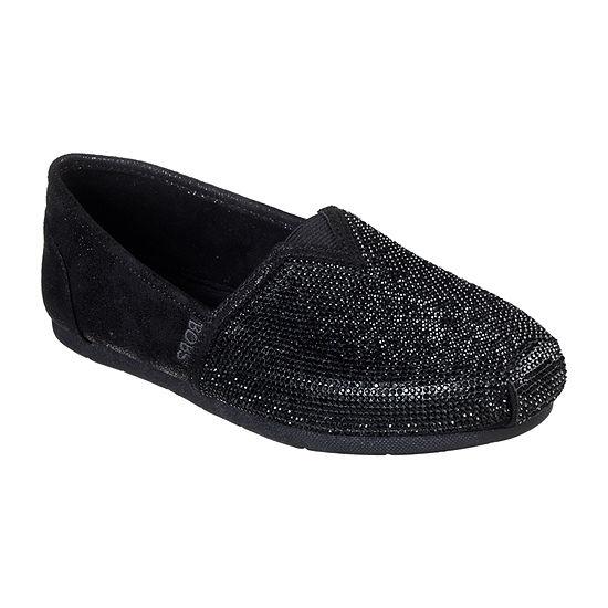 Skechers Bobs Womens Luxe-Tea Rose Slip-On Shoe Closed Toe