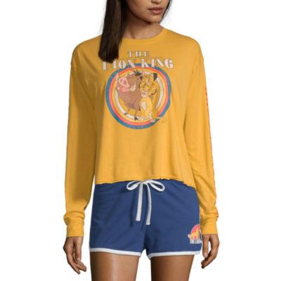 Womens Crew Neck Long Sleeve T-Shirt Juniors