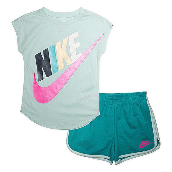 Nike 2 Pc Short Set Toddler Girls