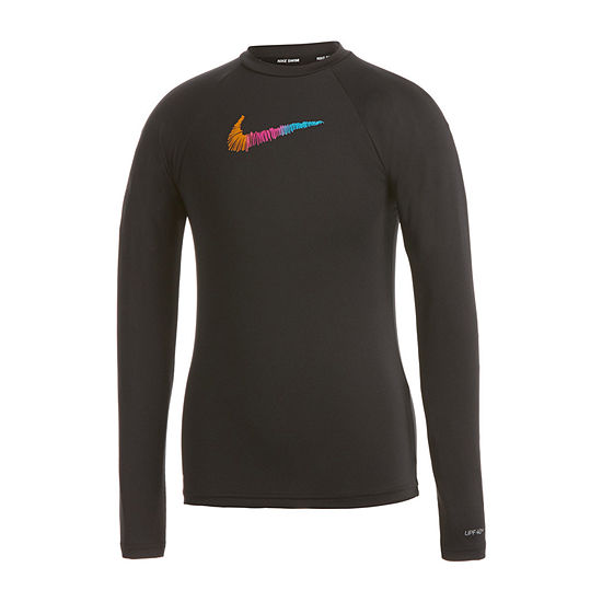 Nike Big Girls Logo Rash Guard
