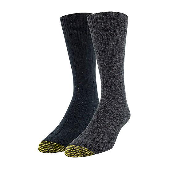Gold Toe 2 Pair Crew Socks-Mens