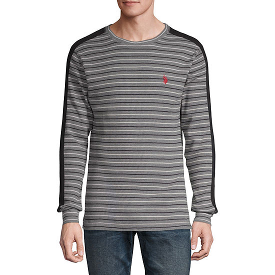 U.S. Polo Assn. Stretch Mens Crew Neck Long Sleeve Thermal Top