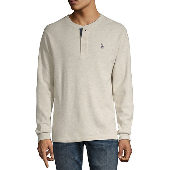 U.S. Polo Assn. Stretch Mens Henley Neck Long Sleeve Thermal Top