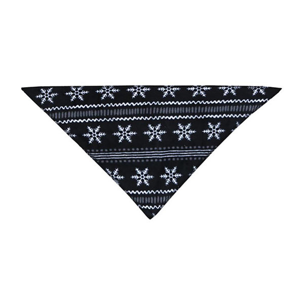 Holiday #FAMJAMS Black Fairisle Foil Family Pet Bandana