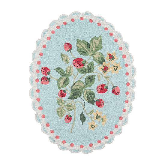 Madcap Cottage By Momeni Get Smart Cherry Berry Hooked Oval Indoor Rugs