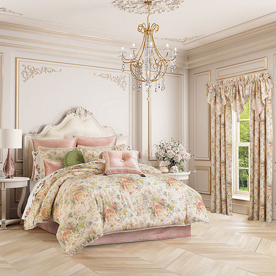 Queen Street Francine 4-pc. Floral Heavyweight Comforter Set