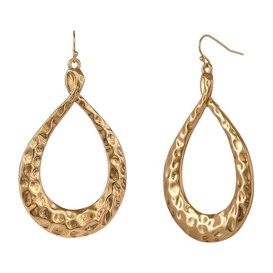 EL by Erica Lyons Gold Havana Nights Oval Drop Earrings