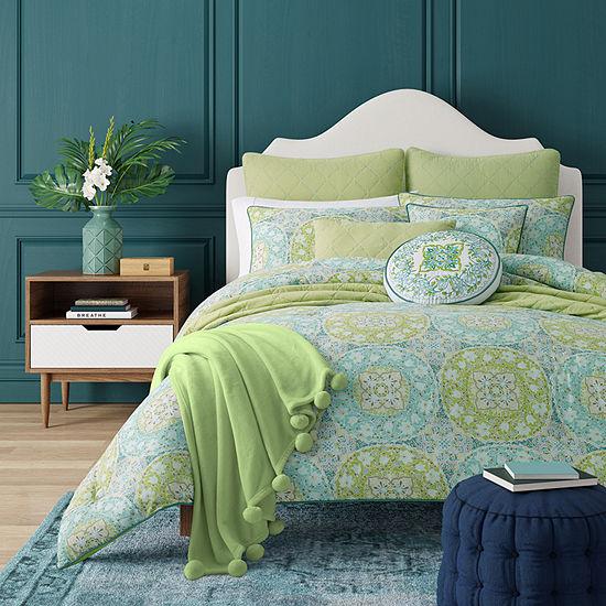 Queen Street Ava 3-pc. Floral Heavyweight Comforter Set