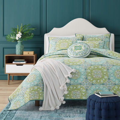 Queen Street Ava Floral Coverlet