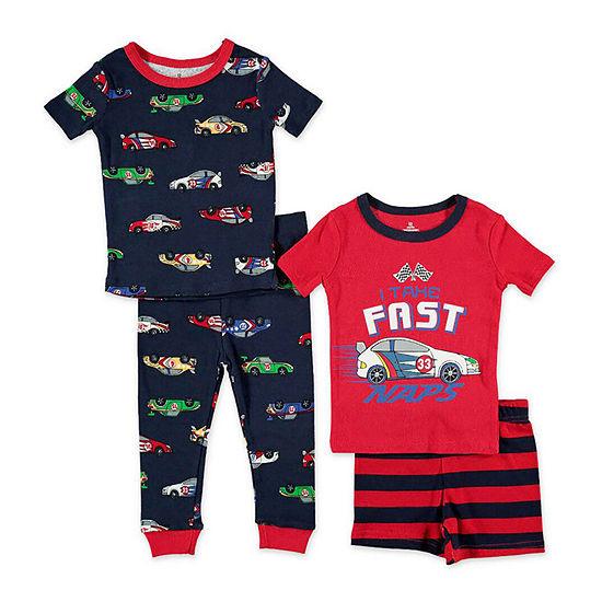 Night Life Boys 4-pc. Pajama Set Toddler