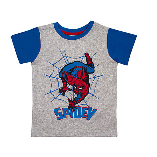 Boys Crew Neck Short Sleeve Spiderman Graphic T-Shirt-Toddler