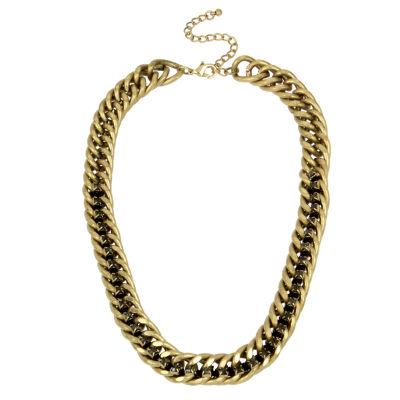 Bleu™ Gold-Tone Chain Collar Necklace