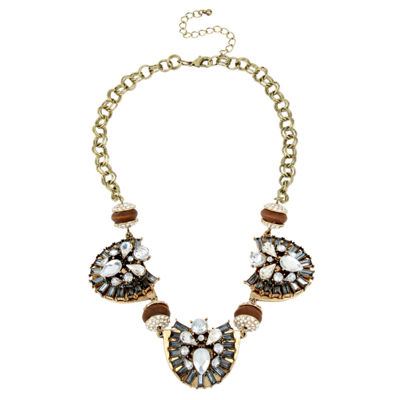 Bleu™ Stone Gold-Tone Statement Necklace