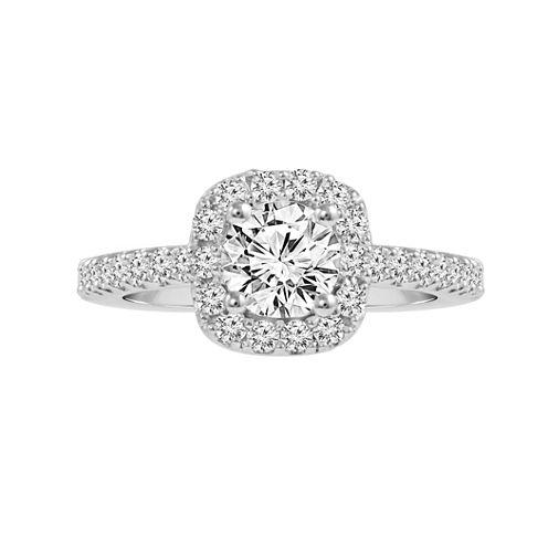 1 1/2 CT. T.W. Diamond 14K White Gold Engagement Ring