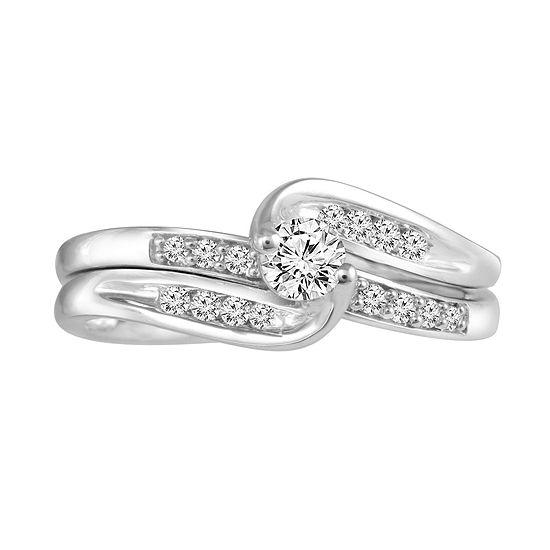 3/8 CT. T.W. Diamond 10K White Gold Engagement Ring