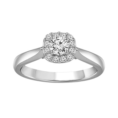 1/2 CT. T.W. Diamond 14K White Gold Engagement Ring