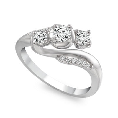 Love Lives Forever™ 1/2 CT. T.W. Diamond 10K White Gold Engagement Ring