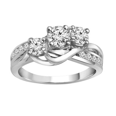 Love Lives Forever™ 1 CT. T.W. Diamond 10K White Gold Engagement Ring